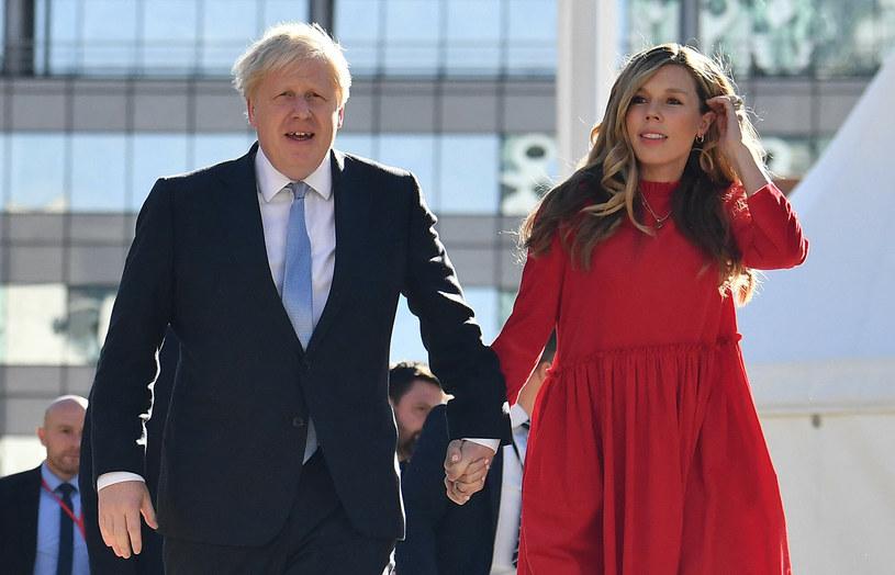 Boris i Carrie Johnsonowie na konferencji w Manchesterze /BEN STANSALL/AFP/East News /East News