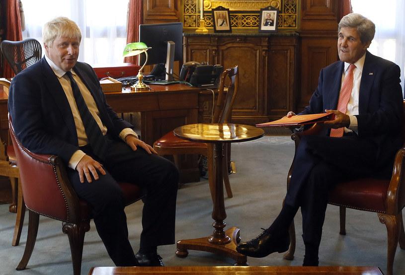 Boris Johnson i John Kerry /AFP