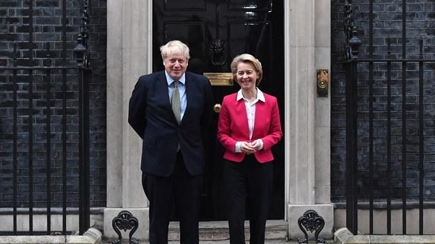 Boris Johnson i Ursula von der Leyen /ANDY RAIN /PAP/EPA