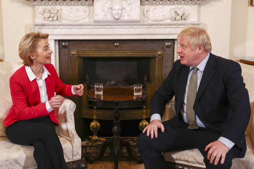 Boris Johnson i Ursula von der Leyen /SIMON DAWSON / POOL /PAP/EPA