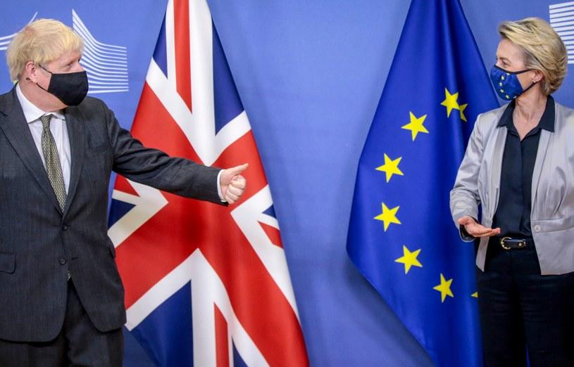 Boris Johnson i Ursula von der Leyen /AFP