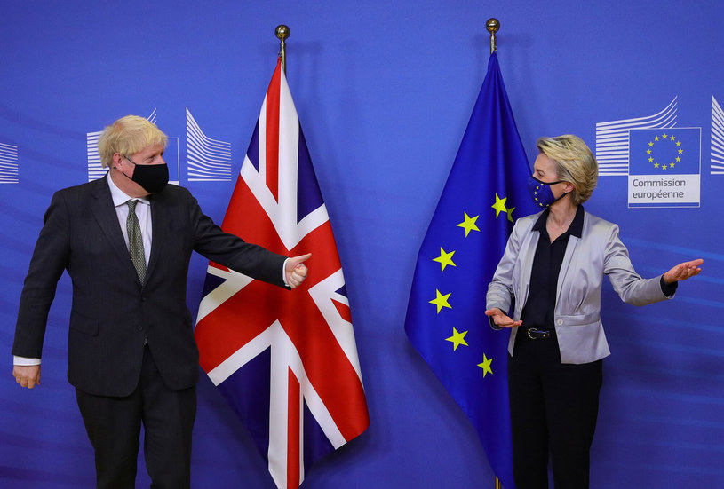 Boris Johnson i Ursula von der Leyen /Aaron Chown  /East News