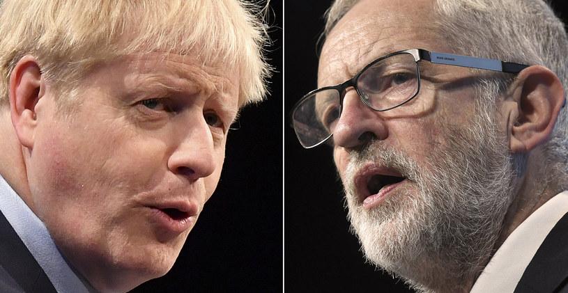 Boris Johnson kontra Jeremy Corbyn /AFP