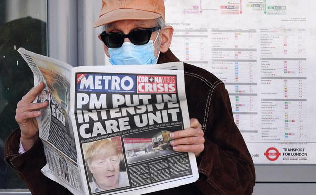 Boris Johnson wczoraj trafił na oddział intensywnej terapii / ANDY RAIN    /PAP/EPA