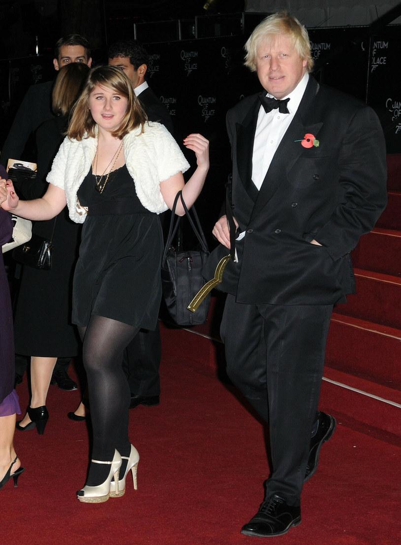 Boris Johnson z córką /Splash News/EAST NEWS /East News
