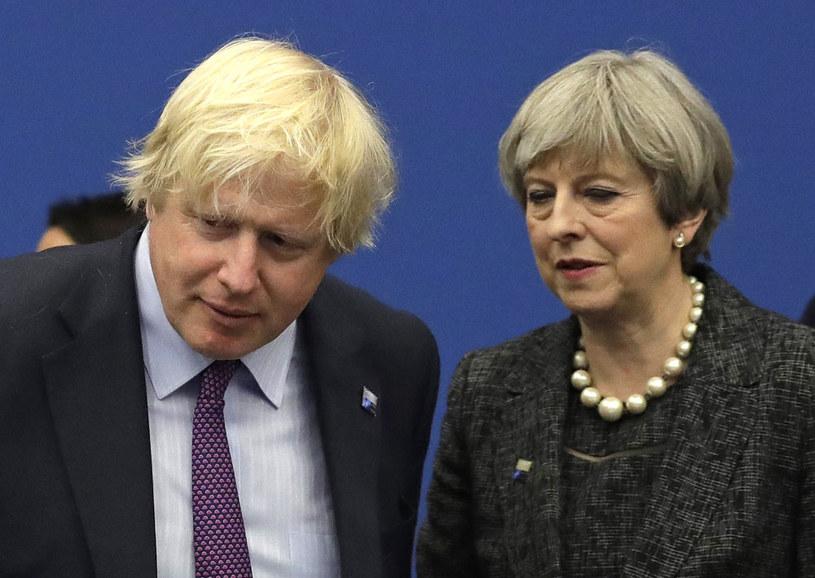 Boris Johnson zadeklarował poparcie dla premier Theresy May /Matt Dunham   /AFP