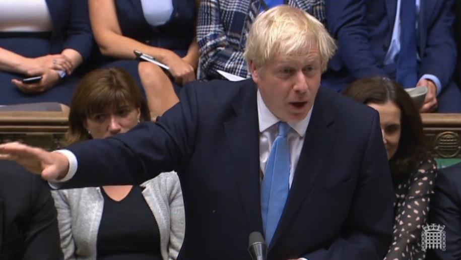 Boris Johnson zawiesił na pięć tygodni obrady Izby Gmin /UK PARLIAMENTARY RECORDING UNIT /PAP/EPA