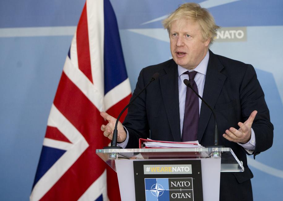 Boris Johnson /OLIVIER HOSLET /PAP/EPA