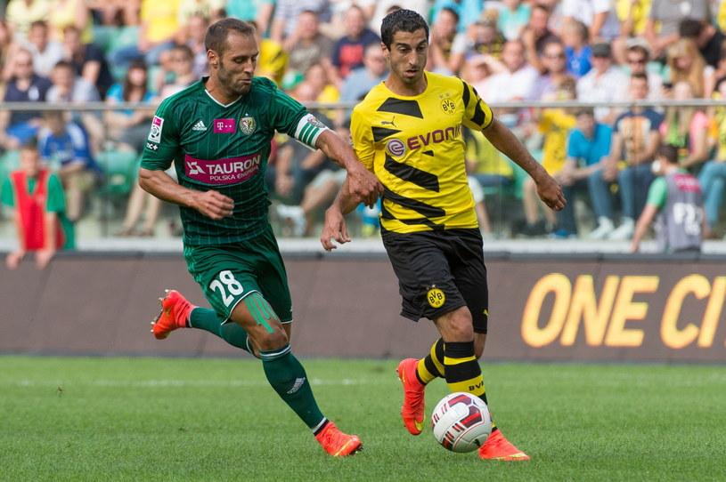 Borussia dominowała w meczu ze Śląskiem /Fot. Maciej Kulczyński /PAP