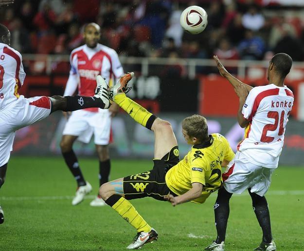 Borussia Dortmund zremisowała z Sevillą 2-2 i odpadła z Ligi Europejskiej /AFP