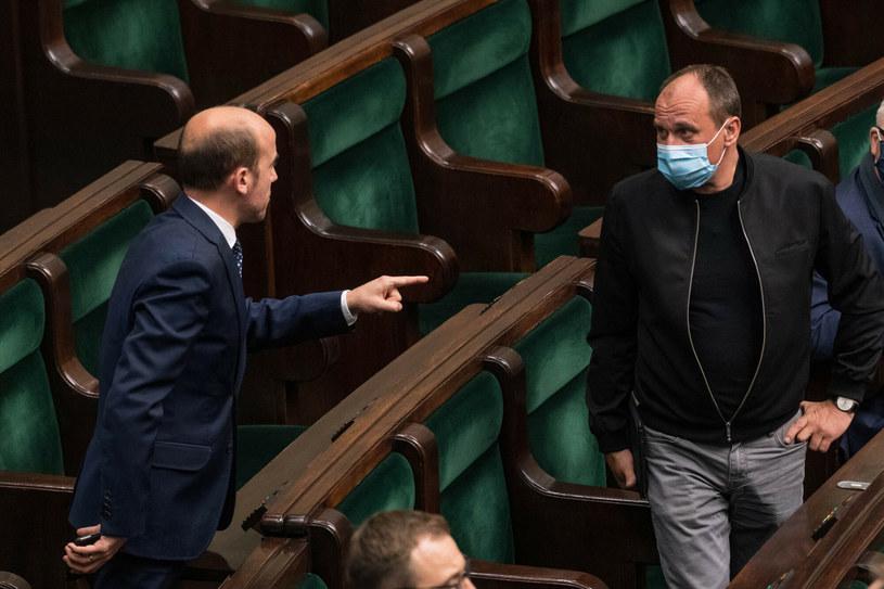 Borys Budka i Paweł Kukiz (arch.) /Jacek Domiński /Reporter