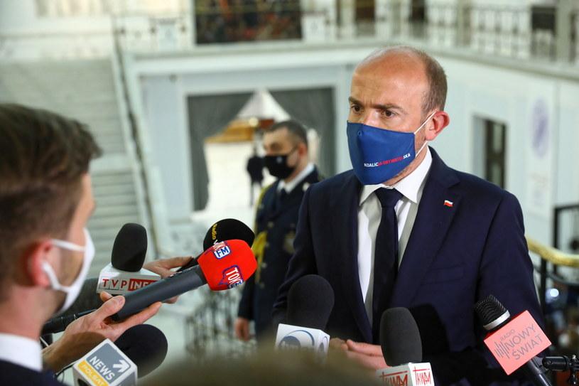 Borys Budka: premier tryumfuje a powinien zastanowić się, czy jest jeszcze rząd większościowy /Rafał Guz /PAP