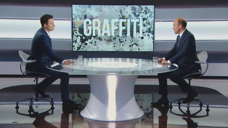 "Borys Budka w programie ""Graffiti"" w Polsat News /Polsat News"