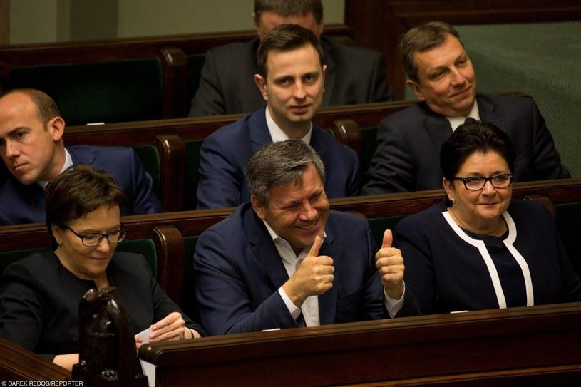 Borys Budka, Władysław Kosiniak-Kamysz, Andrzej Halicki, Ewa Kopacz, Janusz Piechociński i Teresa Piotrowska /Darek Redos /Reporter