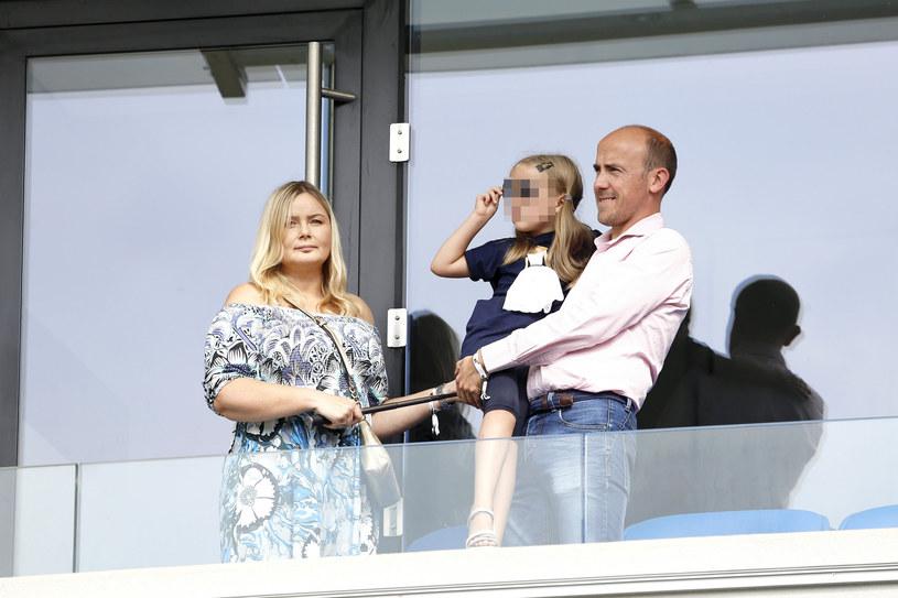 Borys Budka z żoną i córeczką /Tomasz Kawka /East News