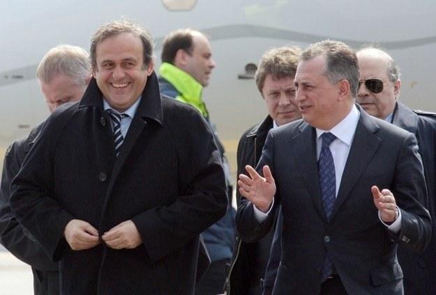 Borys Kołesnikow przekonuje Michela Platiniego, że Ukraina nie jest zamieszana w korupcję przy Euro /AFP