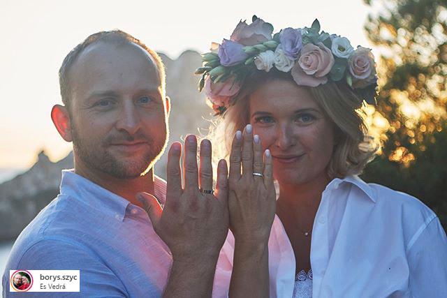 Borys Szyc i jego żona Justyna Nagłowska w dniu ślubu (fot. screen z Instagrama) /materiały prasowe