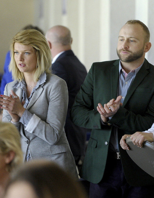 Borys Szyc i Justyna Jeger-Nagłowska /Mieszko Pietka /AKPA