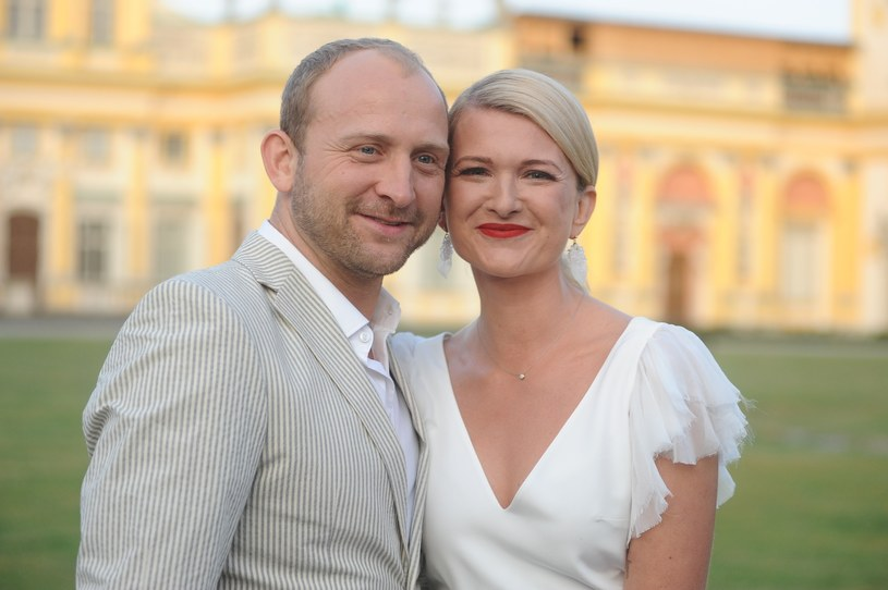 Borys Szyc i Justyna Jeger-Nagłowska /VIPHOTO/EAST NEWS  /East News