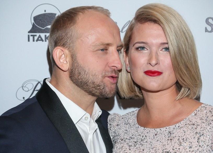 Borys Szyc i Justyna Nagłowska niedawno zostali rodzicami /Kamil Piklikiewicz/East News /East News