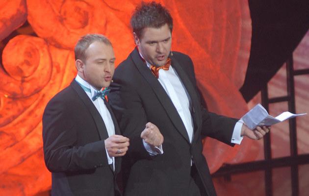 Borys Szyc i Tomasz Karolak, fot. Marek Ulatowski  /MWMedia