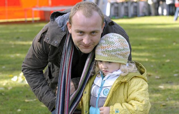 Borys Szyc z córką /fot.Dariusz Gałązka  /AKPA