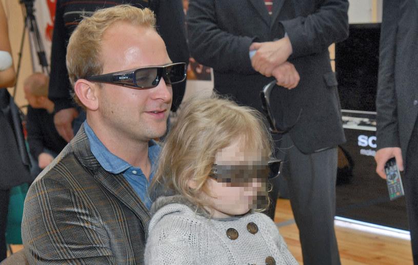 Borys Szyc z córką /Marek Ulatowski /MWMedia