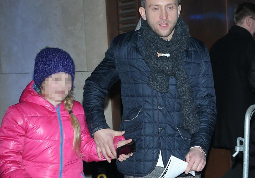 Borys Szyc z córką /Paweł Wrzecion /MWMedia
