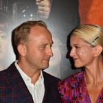 """Borys Szyc z Justyną Nagłowską na premierze filmu """"Magnezja"""""""
