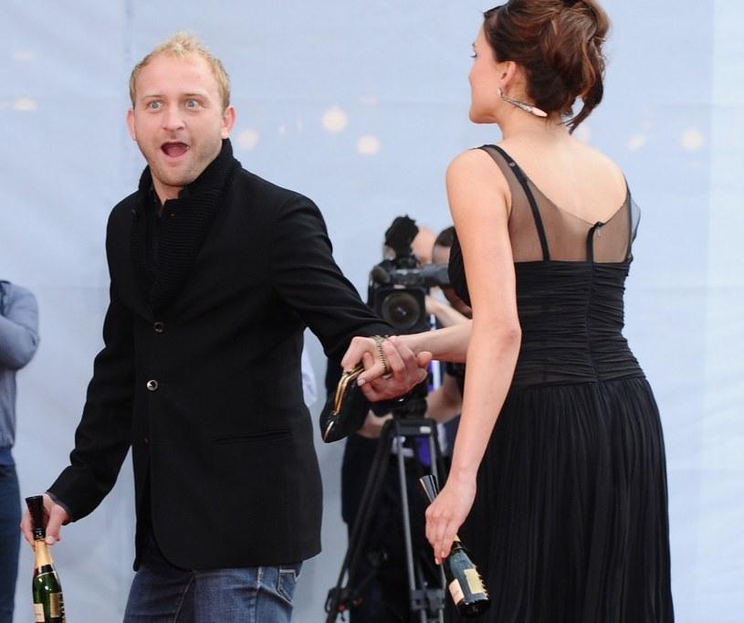 Borys Szyc z Magdaleną Czerwińską /VIPHOTO /East News