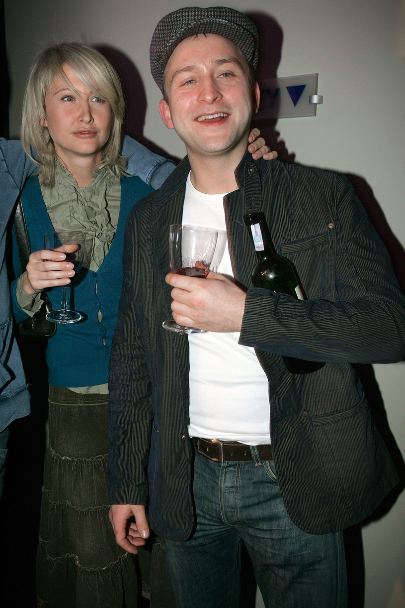 Borys Szyc z matką swojej córki, Anną; zdj. z 2005 roku /Warda /AKPA
