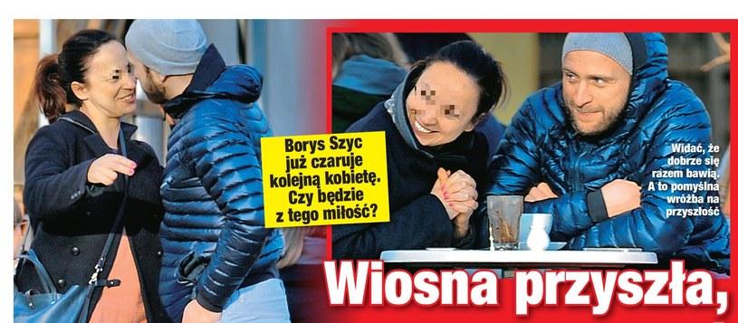 Borys Szyc z tajemniczą kobietą /- /Twoje Imperium