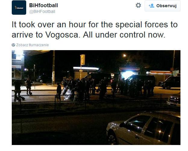 Bośniackie media informują o zajściach przed meczem w Sarajewie /INTERIA.PL