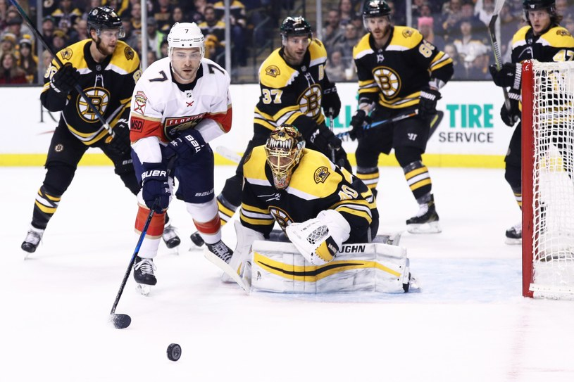 Boston Bruins przegrali z Florida Panthers /AFP