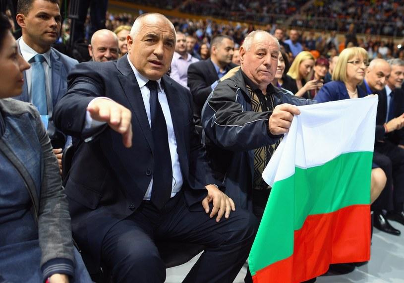 Boyko Borisov, lider partii GERB w czasie spotkania kończącego kampanię wyborczą /VASSIL DONEV /PAP/EPA