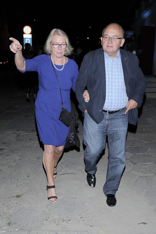 Bożena Dykiel z mężem Ryszardem /East News