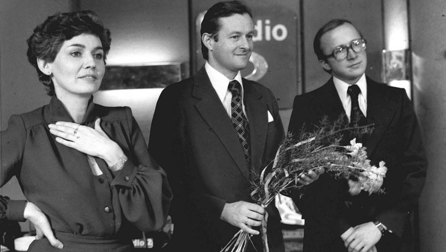 Bożena Walter , Tomasz Hopfer i Edward Mikołajczyk (po prawej) /PAP/ Witold Rozmysłowicz /PAP
