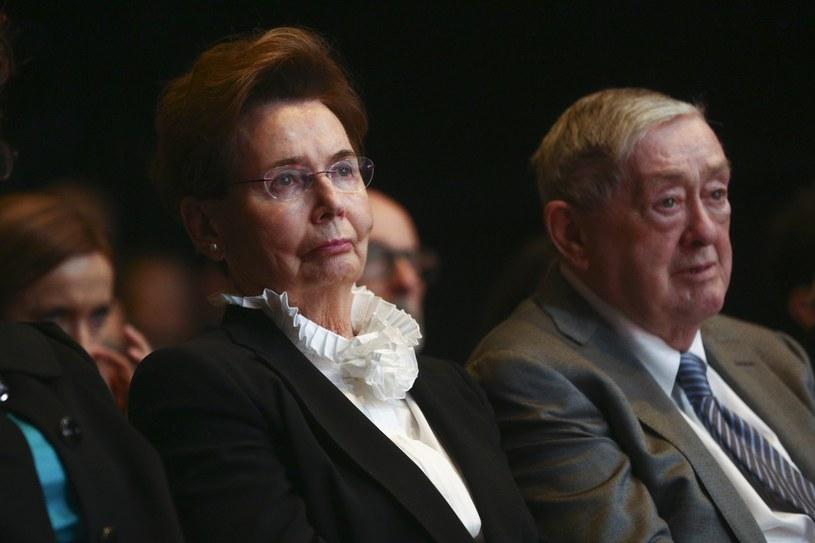 Bożena Walter z mężem w 2017 roku /Beata Zawrzel/REPORTER /East News