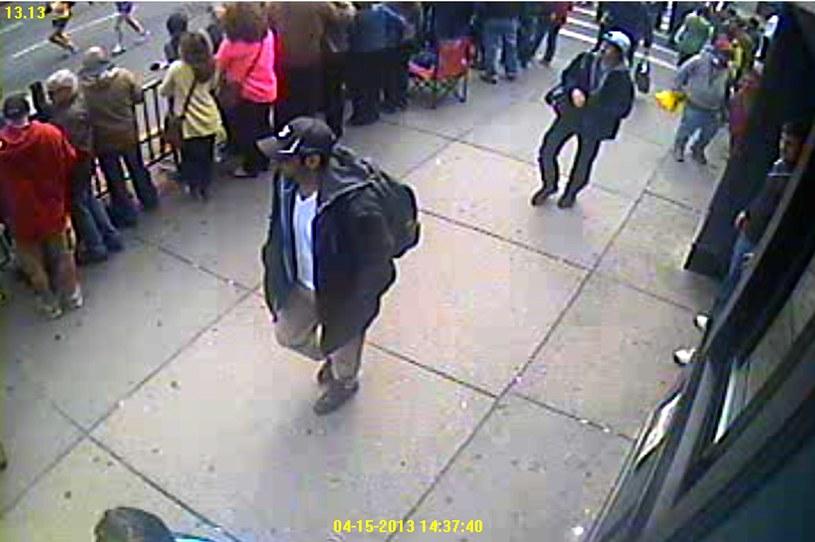 Bracia Carnajew w Bostonie niedługo przed zamachem /PAP