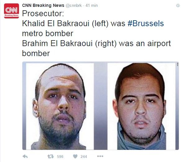 Bracia El Bakraoui: po lewej stronie Khalid, a po prawej Ibrahim /Twitter