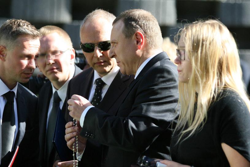 Bracia Kurscy na pogrzebie mamy /Andrzej Wrzesiński /East News