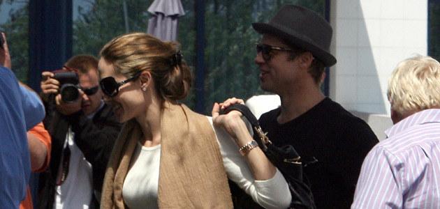 Brad i Angelina w Pradze  /Splashnews