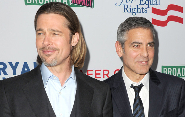 Brad Pitt i George Clooney /Kevin Winter /Getty Images