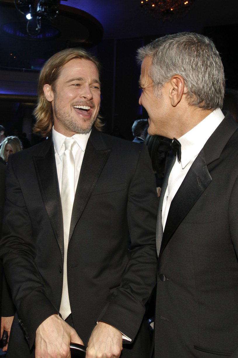 Brad Pitt i George Clooney /Christopher Polk /Getty Images