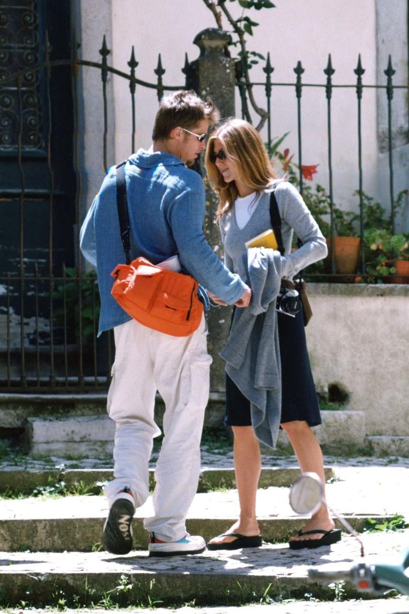 Brad Pitt i Jennifer Aniston, 1999 rok /Phillip Ramey /Getty Images