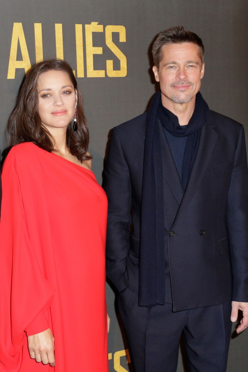Brad Pitt i Marion Cotillard /GEOFFROY VAN DER HASSELT /East News