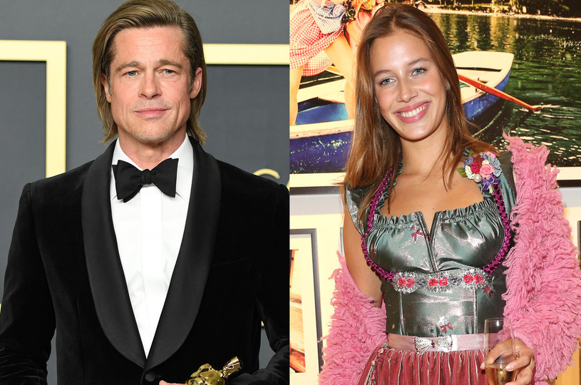 Brad Pitt i Nicole Poturalski /Steve Granitz, Gisela Schober /Getty Images