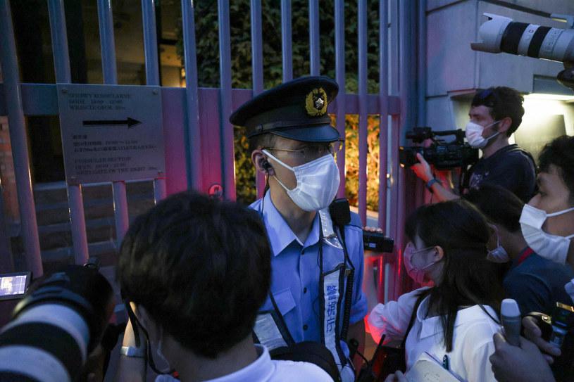 Brama ambasady RP w Tokio /Yuki IWAMURA / AFP /East News