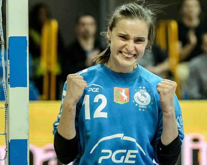 Bramkarka SPR Weronika Gawlik była bohaterką meczu /Wojciech Pacewicz /PAP