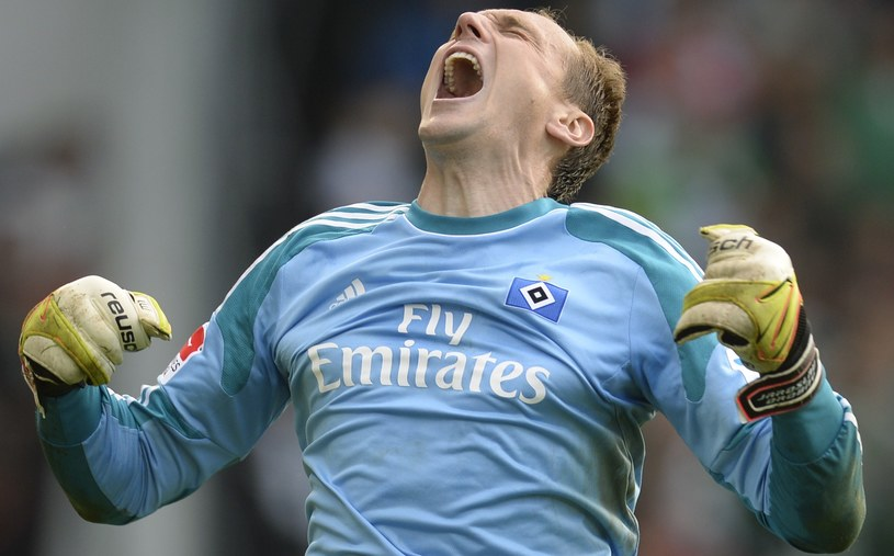 Bramkarz HSV Jaroslav Drobny i jego koledzy mają powody do zadowolenia /AFP